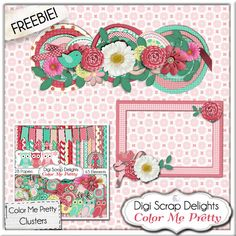Color Me Pretty Mega Kit & Digi Scrap Freebie