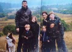 The whole Crown Princely Family of Denmark... their 2013 Christmas Card