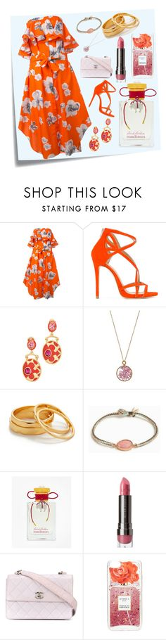 """Lovely Orange..**"" by yagna ❤ liked on Polyvore featuring Post-It, MSGM, Marc Ellis, Oscar de la Renta, Aurélie Bidermann, Gorjana, BROOKE GREGSON, Brooks Brothers, LORAC and Chanel"