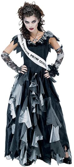 i really want to be a dead prom queen for halloween, that would be awesome.