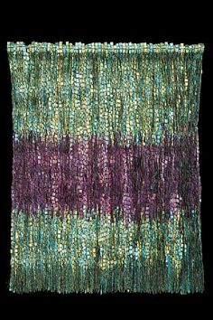 """by the famous weaver, Olga de Amaral. Repinned by Libby VanBuskirk on """"Weavings & Fiber Arts Favorites"""" of mine. I'd love to see this larger. She was a spectacular weaver from about the 1970s."""