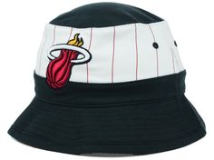 Miami Heat Mitchell and Ness NBA Pin Stripe Bucket Hat Hats Miami Heat 2eeea1c8c076