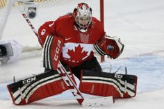 Shannon Szabados - Records her second shooutout at the Olympics against Finland Olympic Hockey, Women's Hockey, Hockey Players, Athletic Events, Winter Olympics, Winter Sports, Canada, Finland, Butterfly