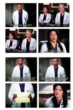 Jackson: I move to rename the hospital.  Cristina: Again?  Arizona: To what?  Callie: Let me guess the Harper Avery Hospital?  Jackson: I propose that we give this hospital a name that can honor the very reason we came together and been able to do this. A name that exemplifies the spirit of the hospital, but also the depth of our dedication.  Grey Sloan Memorial Hospital    Love this Grey's Anatomy Moment! Grey's Anatomy quotes