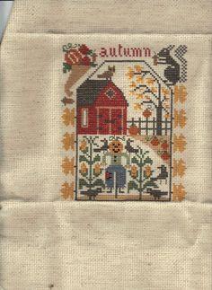 Finished Prairie Schooler Fall Autumn Cross Stitch | eBay