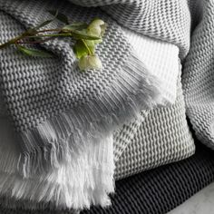 Luxuriously soft and unique waffle towels with fringe. Shop Matouk luxury bath towels at fig Linens. Class Design, Pillow Protectors, Turkish Towels, Turkish Bath, Linen Napkins, Fine Linens, Hand Towels, Cool Things To Make, Delicate