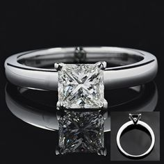 1.12ct HVVS2 Princess cut diamond set in solid platinum solitaire. For sale now see our special offers page.    http://www.danielprince.co.uk/Special_Offers.html