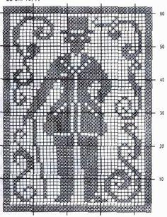 crochet em revista: esquema crochet quadro