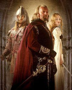 The Royals of Rohan - Theoden - Eomer - Eowyn - Return of the King - Karl Urban - Miranda Otto - Benard Hill - Lord of the Rings Aragorn, Gandalf, Legolas, Karl Urban, Fellowship Of The Ring, Lord Of The Rings, Jackson, Tim Burton, Films Western
