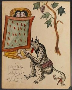 Pages from an early-20th-century book of demons from Iran, Princeton University Department of Rare Books and Special Collections (Islamic…