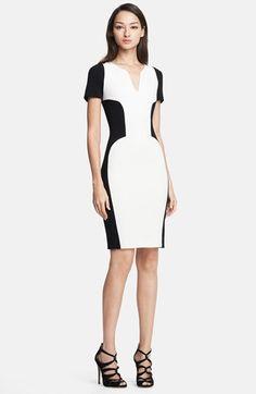Nordstrom Bicolor Stretch Wool Dress