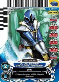 Blue Super Samurai ranger Power Rangers Trading card