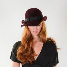 3bade6d1045 Fall Hat Style 5 FUR VELOUR Modern Fedora by prestonandolivia