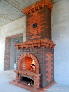 Печки и не только... | Форум - FORUMHOUSE Pizza Oven Fireplace, Cabin Fireplace, Fake Fireplace, Stove Fireplace, Fireplace Design, Brick Bbq, Brick And Wood, Brick And Stone, Kitchen Cabinets And Flooring