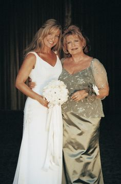 Mom looking great with her bride daughter