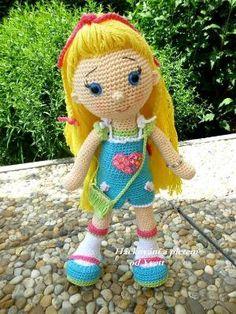 PATTERN - Doll Amálka - crochet pattern, amigurumi pattern, PDF by Dawn Clayton