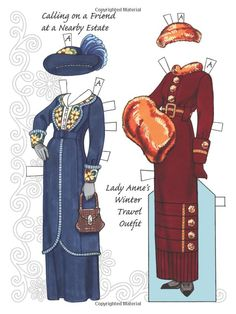English Country Paper Dolls: in the Downton Abbey Style (Dover Paper Dolls): Eileen Rudisill Miller: 9780486791821: Amazon.com: Books
