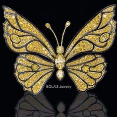 repost from @bola3jewelry  #YellowDiamond Butterfly #Brooch by Ralph Esmerian #bola3jewelry