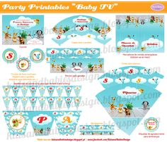 Party Printables :: Baby TV Party Printables, Family Affair, Baby Shark, Tv, Baby Kids, Birthday, Selena, Babies, Ticket Invitation