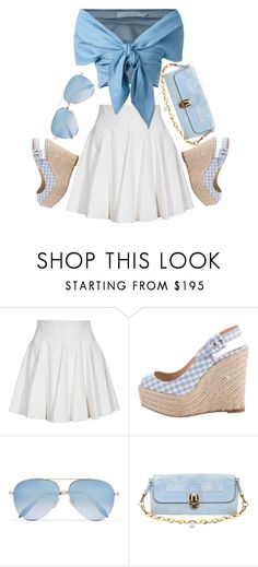 """""""Summer Blues"""" by youaresofashion ❤ liked on Polyvore featuring Plein Sud, Christian Louboutin, Victoria Beckham and Chloé"""