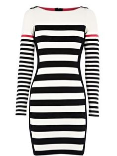 Karen Millen Block stripe knit dress