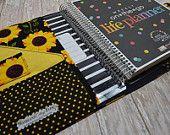 Planner Cover - In Sunflower Fabric - #woodlandcottagefarm #erincondren #plumpaperplanner #inkwell #planneraccessories