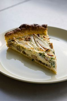 Quiche with shallots , mushrooms and sausage