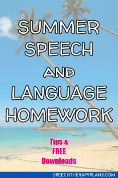 Here are my 5 tips to sending home speech therapy homework that will actually be used over the summer!