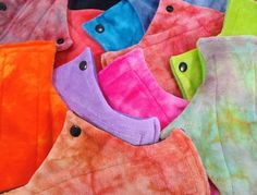 Tree Hugger Cloth Pads - Heavy Flow Day Pads (Hand Dyed Bamboo Velour)