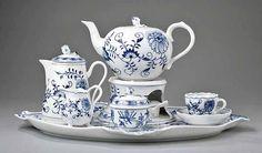 Meissen Blue Onion breakfast set
