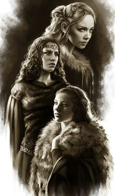 Ceryse Hightower, Tyanna of the Tower and Alys Harroway, three of the six wives…