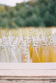 Cute cocktails. Photography : Brushfire Photography Read More on SMP: http://www.stylemepretty.com/new-york-weddings/shandaken-new-york/2016/08/17/new-york-catskills-wedding/