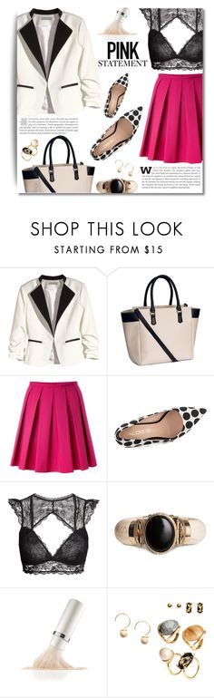 """""""~ Statement PINK ~"""" by dolly-valkyrie ❤ liked on Polyvore featuring H&M, RED Valentino, ALDO, La Mer, bag and bicolorbag"""
