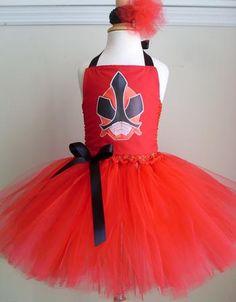 Power Rangers Red Samurai Tutu Dress