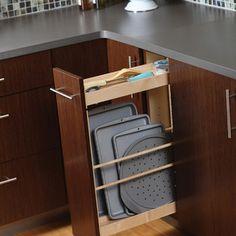 Ordenar los moldes de cocinar Organize pans