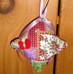 Valentines Day Gift embroidered ornament by FourDirectionsLight