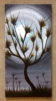 Original 'Wonderland' Watch the birds fly from the tree top as the moon captures your eye. By Art Room 278. 15 x 30