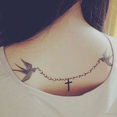 back-tattoos-for-women-girly #tattoosforwomenchest