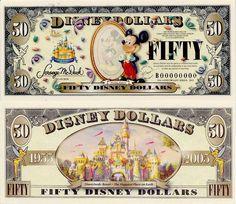 2005 $50 Charles Boyer 'Mickey in the Mirror' Disney Dollar
