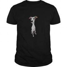 Awesome Tee Italian Greyhound cartoon dog dog t shirt Shirts & Tees