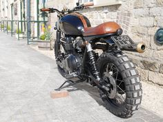 #Triumph Scrambler rear 3/4 view