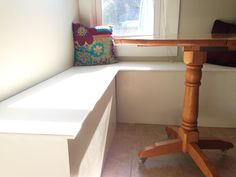 How to Build a Simple Kitchen Storage Banquette | rehab dorks