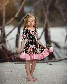 Flirty Florals by Irina Chernousova Dresses Kids Girl, Kids Outfits, Flower Girl Dresses, Toddler Dress, Baby Dress, Toddler Fashion, Girl Fashion, 80s Fashion, Fashion History