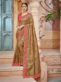 TATHASTU D.NO.-2007 RATE: 4890 - TATHASTU 2001 TO 2015 SERIES  BANARASI SILK JEQUARD TRADITIONAL FANCY SAREE COLLECTION AT WHOLESALE PRICE AT DSTYLE ICON FASHION CONTACT: +917698955723 - DStyle Icon Fashion