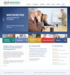 Website Design for Megatech. View more website design works here: http://www.niyati.com/website-portfolio