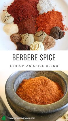 Berbere spice is a hot and delicious spice mix that is essential to Ethiopian cuisine. This spice blend is used in Ethiopian stews such as doro wat and misir wat but can be used to season other dishes; you don't just have to use it for Ethiopian food. Homemade Spices, Homemade Seasonings, Spice Blends, Spice Mixes, Ethiopian Cuisine, Ethiopian Food Recipes, Berbere Spice, Seasoning Mixes, Creole Seasoning
