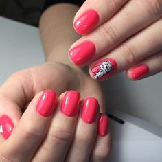 Beautiful nails 2017, Bright gel polish for nails, Bright summer nails, Children nails ideas, Kid nails with pattern, Nails ideas 2016, Pink manicure ideas, Pink shellac