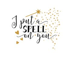 Free SVG cut file - I put a Spell on you