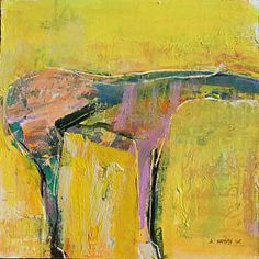 """Sunny Boy by Dominique Samyn Print on wood (Giclee) with layer of resin ~ 12"""" x 12"""""""