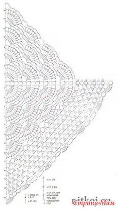 Ravelry: Mariola Shawl pattern by Kirsten Bishop Crochet lace square or rectangle doily Lost in time salvabrani – Artofit This post was discovered by esti brustein. Crochet Shawl Diagram, Crochet Chart, Crochet Motif, Crochet Lace, Free Crochet, Crochet Shawls And Wraps, Knitted Shawls, Crochet Scarves, Crochet Clothes